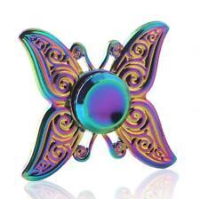 rainbow Butterfly Hand Spinner Metal Fidget EDC Focus ADHD Autism Hand Toys Kids