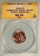 2009 Formative Years Lincoln Cent WDDR-001 (FS-803) Six Fingers Anacs MS-66 RD