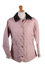 Vintage Barbour Quilted Jacket Womens Spring Annandale Size 12 Pink - C1943