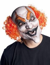 Devilish Clown Soft Vinyl Mask & Wig Halloween Accessory Morbid Enterprises