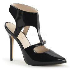 Elegante Damenschuhe mit Knöchel -/Fesselriemen aus Synthetik