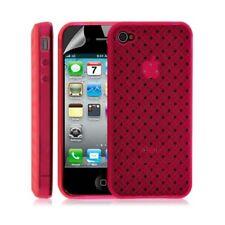 Housse étui coque souple tresse transparent pour Apple Iphone 4/4S couleur rose