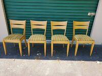 4 Mid-Century Modern Heywood Wakefield Cat's Eye Champagne Dining Chair 151