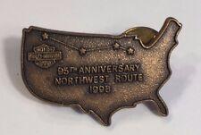 HARLEY DAVIDSON HOG 1998 95th ANNIVERSARY NORTHWEST RIDE HOME VEST JACKET PIN