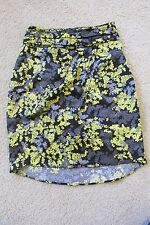 New Women's H&M Black~Yellow~Gray Floral Skirt Size 2 Wrap/Layered/Tiered Look