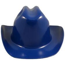 "Outlaw Cowboy Style Safety Hard Hat ""ROYAL BLUE"" Ratchet Susp ANSI/OSHA Approved"