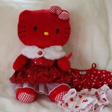 BUILD A BEAR HELLO KITTY VALENTINES Red CHECKED HEART DOLL Sequence Extra Outfit