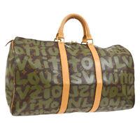 LOUIS VUITTON KEEPALL 50 TRAVEL HAND BAG MONOGRAM GRAFFITI M92196 A43992k