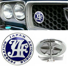 NEW Japan Automobile Federation JAF JDM Blue Car Front Grille Metal Emblem Badge