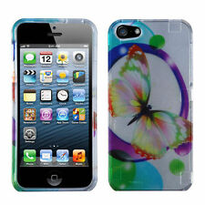 For iPhone 5 5S SE HARD Protector Case Snap On Phone Cover 2D Colorful
