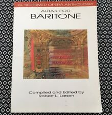 Arias for Baritone, G. Shirmer Opera Anthology by Hal Leonard book, music score