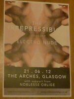 The Irrepressibles - Glasgow june 2012 live music show tour concert gig poster
