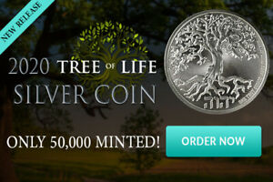 2020 1OZ PURE .999 SILVER TREE of LIFE COIN NEW ZEALAND MINT - IN STOCK!!