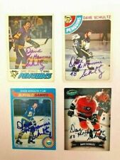 Philadelphia Flyers Dave The Hammer Schultz Set of 4 Hockey Cards From 4 Teams