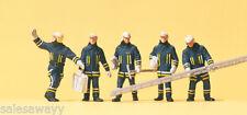 Preiser 10484 Feuerwehrmänner, moderner Anzug, H0