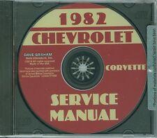 1982  CORVETTE SHOP MANUAL  ON CD