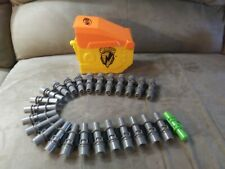 NERF Vulcan Parts Lot EBF-25 Ammo Belt Chain and Ammo Box with lid.