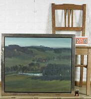 PHILIPP REISACHER *1949 Ottobeuren Allgäu GEMÄLDE LANDSCHAFT WALD SEE 60x50cm