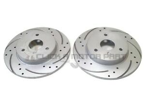 SMART CAR INCLUDING BRABUS FRONT 2 DRILLED AND GROOVED BRAKE DISCS SET NEW
