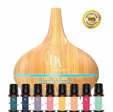 8pcs Essential Oil Gift Set Orange Lavender Lemongrass Rosemary Package Flavors