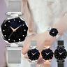 Damen Mode einfache Uhr Edelstahl Analog Quarz Student Uhr leuchtend