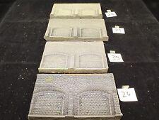 Spur N H0 TT 4 x Dekorplatte Mauerplatte mit Arkaden in Natursteinoptik