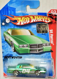 HOT WHEELS 2010 #03/04 '84 PONTIAC RACE WORLD GREEN FACTORY SEALED W+