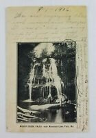 Postcard Muddy Creek Falls Lake Park Maryland People Hanging Out 1906