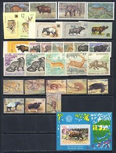 ASIA stamp collection of WILD ANIMAL mnh vf sets/sheets on 2 pages 110.90