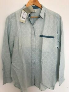 Paul Smith Womens Casual Denim Shirt - All Over Print Size 38-42 - RRP £190