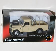 Cararama - LAND ROVER Series III 109 (Beige + Rear Rails) Model Scale 1:43