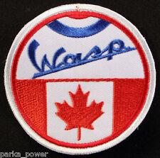 Canada Wasp Mod Sew on Patch, Vespa, Scooterists, Punk