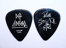 Def Leppard Guitar Pick! 4 Signatures Glossy Black Guitar Pick!