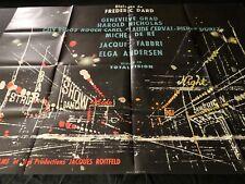L'EMPIRE DE LA NUIT ! frederic dard  affiche cinema 1962 modele rare