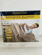 "Pendleton Quilted Weighted Blanket 48"" x 72"" Beige 15 lbs"