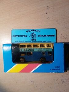 Matchbox Superfast MB17 London Bus COVENTRY FA CUP WEMBLEY 1987 Limited Edition