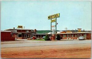 West Rapid City, South Dakota Postcard MOTEL RAPID Highway 14 Roadside c1960s