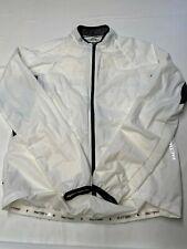 Mens PACTIMO White Lightweight Nylon Biking Cycling Windbreaker Jacket Sz 2XL