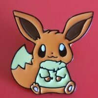 Eevee Pin Pokemon Cute Enamel Retro Metal Brooch Badge Lapel