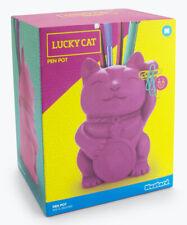 Mustard Lucky Cat Pen Pot Pink M16123 Pencil Holder New In Box