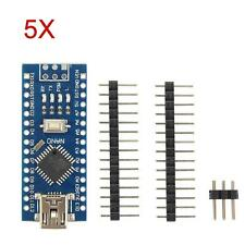 5PC Durable USB Nano ATmega328P CH340G 16M Micro-Controller Board For Arduino XD