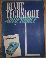 RTA - Revue Technique Automobile - Simca 5