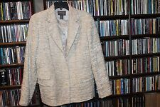 Lafayette 148 NY New York Ivory Cream Blazer Jacket Ladies 10 textured  (b124)