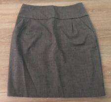 Ladies size 8 Dark Grey HOT OPTIONS Work Skirt - Excellent Con