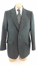 BRITTISH CROWN CLOTHES FIFTH AVE MENS GRAY WOOL SUIT JACKET SPORT COAT SIZE 42R