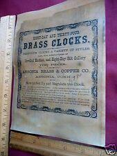 Ansonia Brass & Copper Co., Ansonia Conn. Label Antique Clock Parts - New Size
