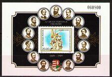 Hungary 1989 ScB342 MiBlk206A 6.50 MiEu 1SS mnh Martyrs of Arad,Arad,Romania