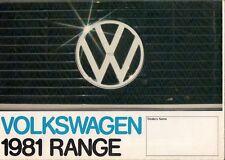 Volkswagen 1980-81 UK Market Brochure Polo Derby Golf Jetta Passat Scirocco