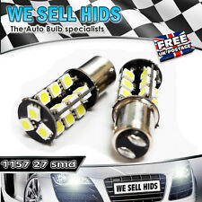 2x 1157 BAY15D 380 Xenon 27 LED SMD CANBUS DRL WHITE 5050 ERROR FREE BRAKE