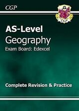 AS Level Geography Edexcel Revision Guide, CGP Books, Very Good Book